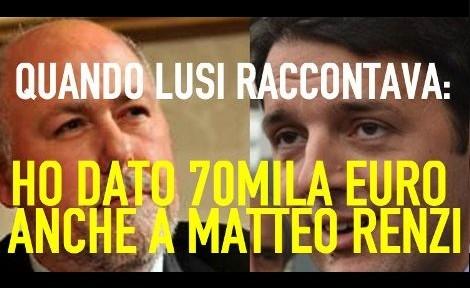 Quando Lusi rivelava di aver dato 70.000€ a Renzi. Ma ora – complice la stampa – è stato messo tutto a tacere !!