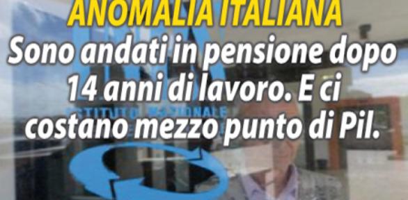 Quello che nessuno vi dice – le Pensioni baby: ci costano 9 miliardi l'anno !!! – …E nessuno muove un dito !!