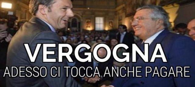 Il Capolavoro di De Benedetti: non solo ruba a Montepaschi, adesso si fa pagare dagli Italiani il buco delle aziende… un grazie di cuore agli amici in Parlamento…!