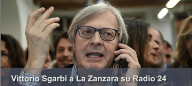 """Non arrivate a fine mese? Avete una pensione da fame? O magari non avete manco un reddito? Sentite questa carogna: Vittorio Sgarbi a La Zanzara: """"Il vitalizio? Prendo 9 mila euro e me li merito tutti""""…!!!"""