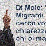 """Di Maio: """"Sui Migranti non cerco voti, ma chiarezza su chi ci mangia"""""""
