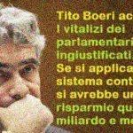 L'accusa di Tito Boeri: I vitalizi dei parlamentari sono ingiustificati. Se si applicasse il sistema contributivo si avrebbe un risparmio quasi un miliardo e mezzo!!!