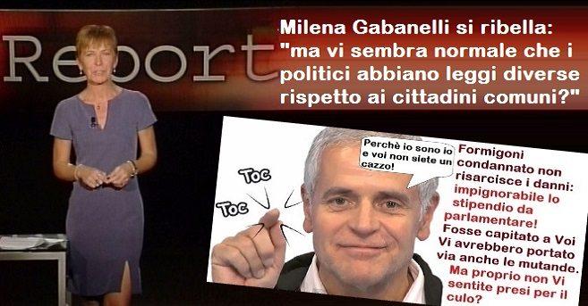 """Quando Milena Gabanelli si infuriò di brutto: """"ma vi sembra normale che i politici abbiano leggi diverse rispetto ai cittadini comuni?"""""""