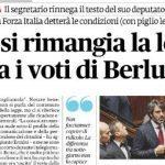 Legge Legittima Difesa – Il Pd di Renzi è riuscito a: 1) approvare una legge; 2) dire che non la volevano approvare; 3) chiedere aiuto a Berlusconi per peggiorarla; 4) scontentare tutti…!