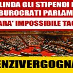 """Un'altra notizia """"sfuggita"""" ai Tg: con un abile colpo di coda il Pd mette a segno uno degli obiettivi della defunta riforma (uno degli obiettivi di cui però Renzi non parlava quando era da Barabara D'Urso): blindare i privilegi dei superburocrati parlamentari…!"""