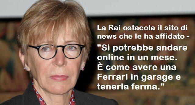 """La Rai ostacola il sito di news che le ha affidato – Lo sfogo di Milena Gabanelli: """"Si potrebbe andare online in un mese. È come avere una Ferrari in garage e tenerla ferma. Se la Rai blocca il sito me ne vado""""…!!"""