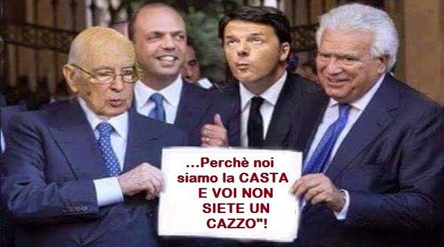 """Il Pd di Renzi, l'apoteosi della CASTA, cerca di arraffare quanto più possibile prima che i 5stelle vadano al Governo – Nella """"Manovrina"""" ecco l'emendamento per ripristina doppi incarichi per 143mila politici locali, vietati dal 2012…!"""