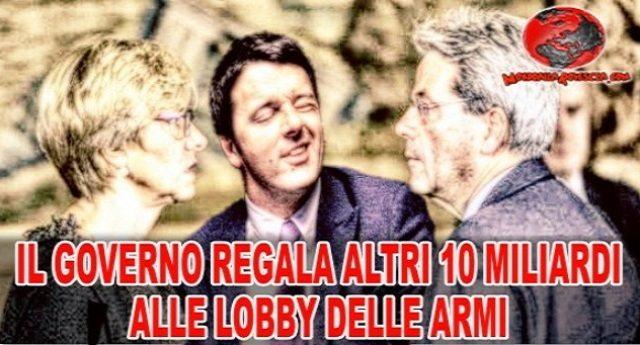 Qualcuno spieghi alle carogne che ci governano che l'Italia ha bisogno di lavoro, non di carri armati e missili.