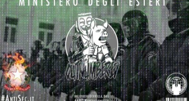 """Anonymous hackera il sito del Ministero degli Esteri: """"Voi fate spese folli e gli italiani pagano""""…!!"""