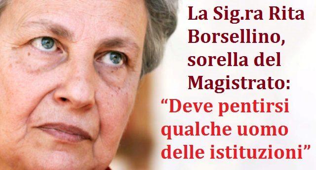 """Rita Borsellino: """"Deve pentirsi qualche uomo delle istituzioni"""""""