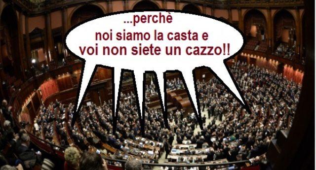 CASTA – tanto per farvelo sapere, i dipendenti di Camera e Senato si beccano anche la sedicesima, OVVIAMENTE SEMPRE A SPESE NOSTRE…!!