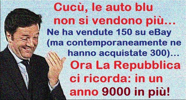 Cucù, le Auto Blu non si vendono più – La Repubblica: in un anno 9000 in più!