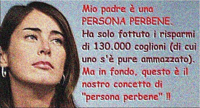 E tre! Il Babbo dell'ex Ministro si becca la terza multa dalla Consob. Il conto finale per Pier Luigi Boschi sarà di 390mila Euro. Alla faccia della persona perbene!