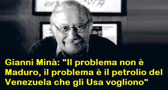 """Gianni Minà: """"Il problema non è Maduro, il problema è il petrolio del Venezuela che gli Usa vogliono"""""""