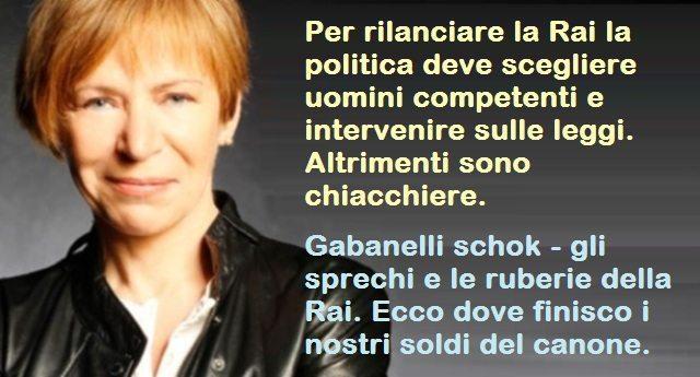 Rai – Milena Gabanelli tre anni fa, in una memorabile intervista, raccontava di lottizzazione, di sprechi e ruberie e dello sperpero dei nostri soldi del canone. Tre anni e tutto è ancora peggio di prima!