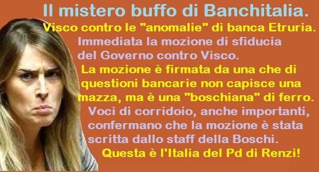 """Il mistero della mozione contro il governatore di Bankitalia Visco: la firma è di tal Silvia Fregolent che di questioni bancarie non capisce una mazza, ma è una """"boschiana"""" di ferro. L'ipotesi più accreditata? Scritta dallo staff della Boschi!"""