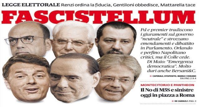 Rosatellum, il Pd blinda la legge elettorale dei nominati: il Governo pone la fiducia, grida in Aula. Ok dal Quirinale – Signore e Signori, ecco a Voi il FASCISMO!