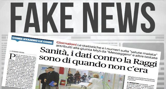 """Ricapitoliamo: i dati sulla salute di Roma sbandierati contro la Raggi da Lorenzin, Governo, Istat, Ansa, Stampa e Tg si riferiscono a quando la Raggi non c'era. Però """"loro"""" sono preoccupati delle Fake News della rete… Tipo sputtanare menzogne come questa…!!"""