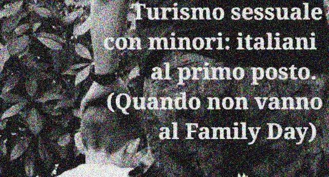 """25 novembre, Giornata mondiale contro la violenza sulle donne – Gli Italiani indignati vicino alle donne, almeno quando non hanno di meglio da fare: """"Turismo sessuale, italiani al mondo: padri di famiglia a caccia di donne e bambini"""""""