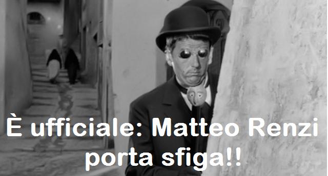 """Renzi: """"Dobbiamo vincere i mondiali in Russia nel 2018"""" …E infatti. E se ancora credete che il buon Matteo non porti sfiga, leggete un po' questo. Resterete allibiti!"""