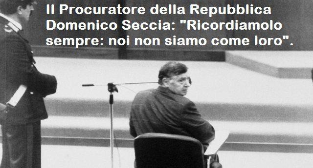 """Il Procuratore della Repubblica Domenico Seccia: """"Riina è morto, la Mafia no""""…"""