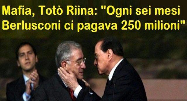 """Pro memoria per quelli che festeggiano la morte di Riina ma continuano a votare Forza Italia:  Totò Riina: """"Ogni sei mesi Berlusconi ci pagava 250 milioni"""""""