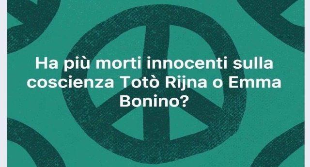 """Un altro prete idiota: """" Ha più morti innocenti sulla coscienza Totò Riina o Emma Bonino?"""" …A questo punto perchè non rivolgiamo un pensiero anche a quelle povere donne che hanno assassinato sui roghi?"""