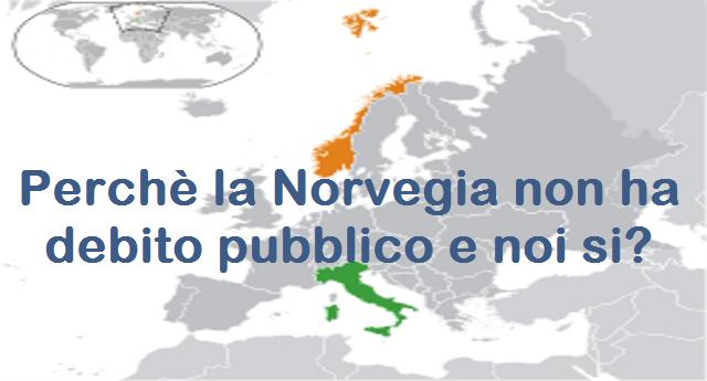 """Perché la Norvegia non ha """"debito pubblico""""? Ogni bambino che nasce in Italia ha già un debito di 40.000 Euro. Ogni bambino che nasce in Norvegia ha un patrimonio di 161.000 Euro. Ecco cosa andrebbe spiegato ai nostri politici…!"""