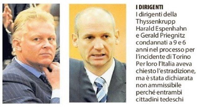 6 dicembre 2007 – 10 anni dalla tragedia, ma le vittime della Thyssen non avranno giustizia. La Merkel protegge i suoi assassini!