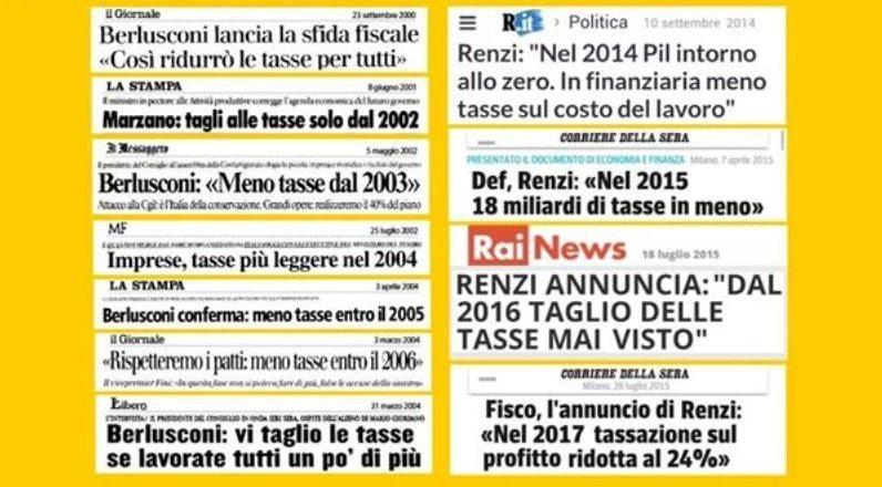 Italia da Record, 15 anni di tagli delle tasse, ormai non paghiamo quasi niente …ma proprio non Vi sentite presi per il c…?