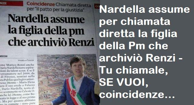 Firenze. Nardella assume per chiamata diretta la figlia della Pm che archiviò Renzi – Tu chiamale, SE VUOI, coincidenze…