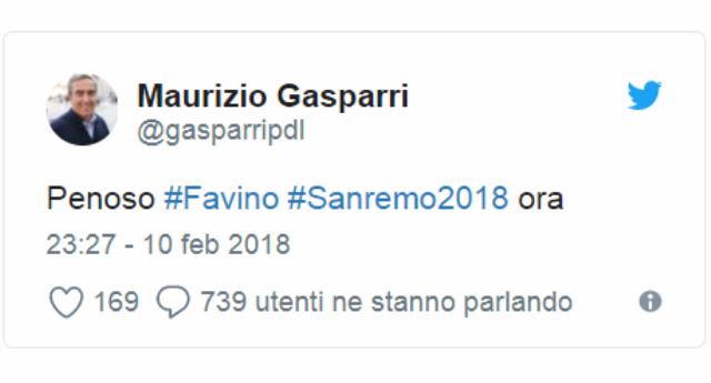 """Gasparri: """"Il monologo di Favino a Sanremo? Eccesso di buonismo"""" …E che cazzo, non se ne può più  di questi buonisti… Pensate che già 80 anni fa rompevano i coglioni. Li chiamavano """"pietisti"""" e, non ci crederete, avevano pietà per quelle carogne degli Ebrei…!"""