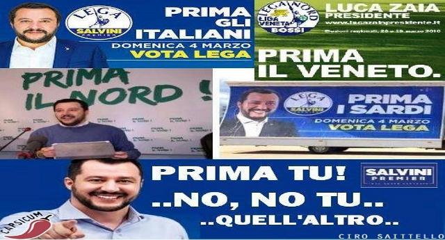 """Giusto per farvelo capire: Salvini ha tolto """"Nord"""" dal nome del partito solo per prendervi in giro. L'art 1 dello statuto recita ancora perentorio: """"Lega Nord per l'Indipendenza della Padania"""""""