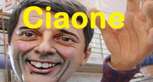 Crollo Pd, un CIAONE di cuore a Matteo Renzi, il becchino della sinistra