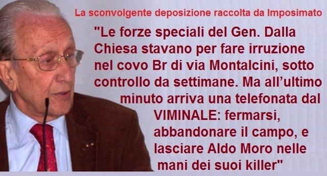 """Aldo Moro ucciso il 9 maggio di 41 anni fa – La sconvolgente deposizione raccolta da Imposimato: """"le forze speciali di Dalla Chiesa stavano per liberare Moro, ma una telefonata dal VIMINALE li fermò"""" !!!"""