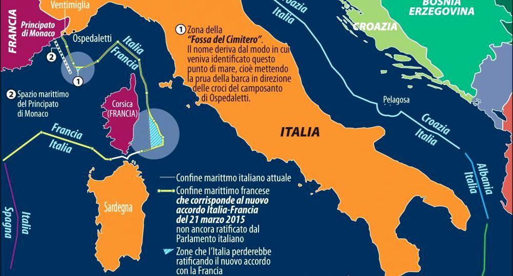 Quello sporco trattato – accuratamente nascosto dai media – firmato da Gentiloni con cui il Governo Renzi ha REGALATO alla Francia, porzioni del nostro mare, giacimenti di petrolio e miliardi di Euro. Si potrebbe ancora annullare, ma nessuno se ne frega!