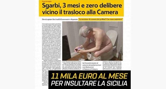 Zafarana (M5S) all'attacco di Sgarbi: In tre mesi non è mai in aula e ha prodotto zero delibere… Prende 11.000 Euro al mese dalla Sicilia solo per insultare la Sicilia…!
