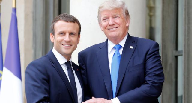 """Macron getta definitivamente la sua maschera colonialista. """"Usa, Francia e alleati devono restare per costruire una 'nuova Siria'"""" …Non Vi sembra un'affermazione di una gravità inaudita?"""