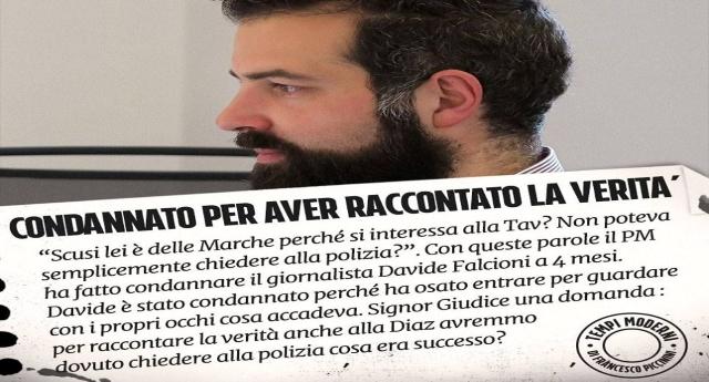 La libertà di stampa è un diritto solo se non disturba il Potere: il giornalista di Fanpage.it, Davide Falcioni, condannato a 4 mesi di detenzione per aver cercato di fare il proprio lavoro!