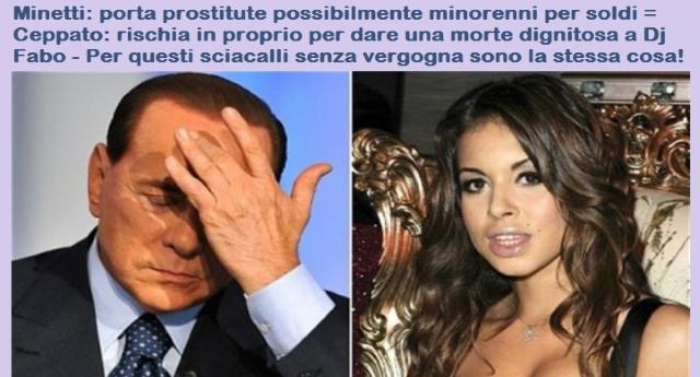 Può succedere solo in un Tribunale Italiano e quando c'è Berlusconi di mezzo – La Difesa senza vergogna: Minetti favorì solo la libertà come Cappato con Dj Fabo…!
