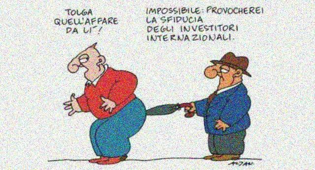 Perché l'Italia deve rimanere nell'Euro? Semplice, quando una moneta non si può svalutare si svalutano salari e stipendi… E indovinate un po' chi lo prende a quel posto?