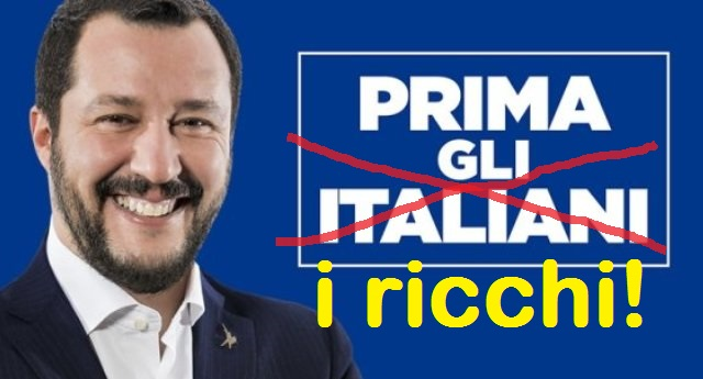 """Matteo Salvini: """"Giusto che chi guadagna di più paghi meno tasse"""" …Oltre ad essere una immane cazzata è anche contro la Costituzione. Ecco perché…"""