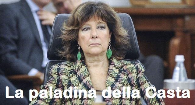 Tagliati i vitalizi alla Camera… E al Senato? Per la pupilla di Berlusconi, la nuova paladina della Casta, non se ne parla proprio…