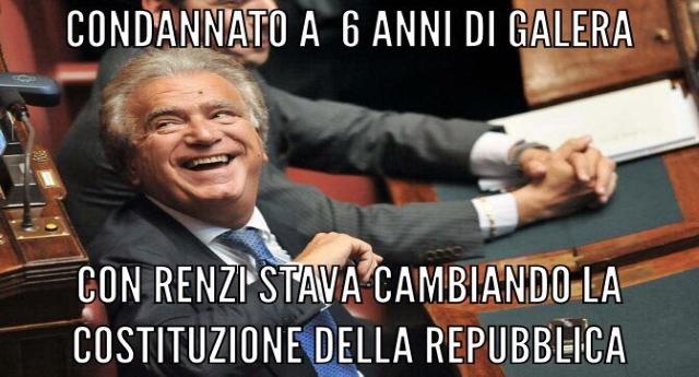 Verdini condannato a quasi 7 anni adesso rischia la pena in carcere… E pensare che se gli Italiani non li avessero stroncati col voto al Referendum, questo delinquente sarebbe un PADRE COSTITUENTE…!