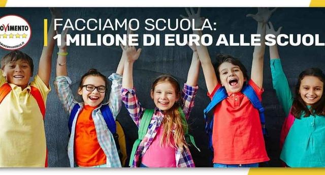 """""""Facciamo Scuola"""", finalmente dopo tanti, ma proprio tanti, anni di tagli, qualcuno fa qualcosa per la scuola: il M5S destina 1 milione di euro all'iniziativa!"""