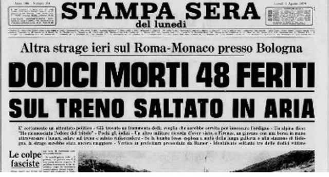 """Amarcord – il 4 agosto 1974 la strage del treno Italicus. Un'altra strage di Stato? Certo è che su quel treno c'era Aldo Moro, che però viene """"salvato"""" facendolo scendere 2 minuti prima della partenza…!"""