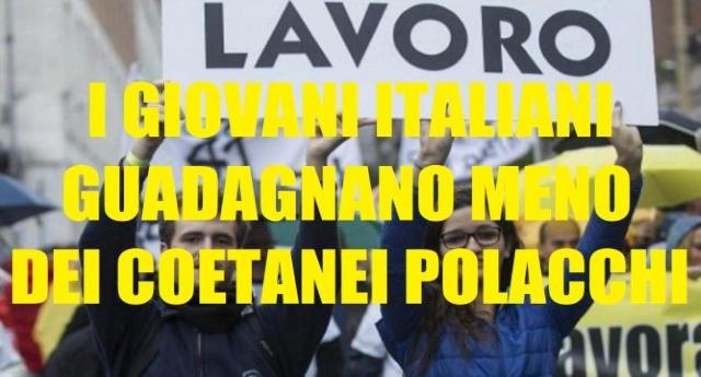 L'analisi impietosa del quotidiano tedesco Sueddeutsche Zeitung: i giovani Italiani guadagnano meno dei coetanei Polacchi. Al Sud1 su 2 è senza lavoro.