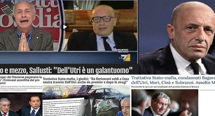 Ricapitoliamo: Sallusti accusa i Cinquestelle di comportamenti mafiosi… Sì, Sallusti, quello che sosteneva che Dell'Utri (condannato per MAFIA) era un galantuomo e che ha sempre scodinzolato intorno a Berlusconi che sovvenzionava la MAFIA…!