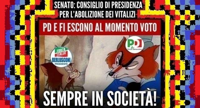 Taglio dei Vitalizi: quelli di Pd e Forza Italia se ne vanno dall'aula al momento del voto… Ricordatevelo quando sarete VOI a dover votare…!