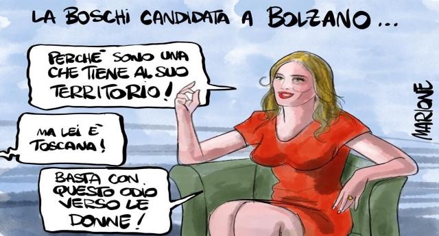 """""""Lega e M5s insieme solo per occupare poltrone"""" …lo ha detto Maria Elena Boschi, quella che pur non scollare il culo da una poltrona d'oro si è fatta eleggere in un collegio super-blindato di Bolzano…!"""